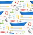 cartoon fishing background pattern vector image
