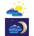 Day and Night symbols vector image