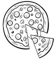 Doodle pizza vector image