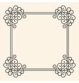 Flourish Vintage Frame vector image