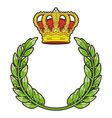 olive branch and crown vector image