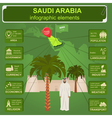 Saudi Arabia infographics statistical data sights vector image
