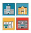set building facade different construction vector image