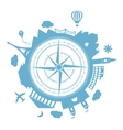 Travel agency round icon vector image