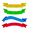 Watercolors colorful ribbons and banners for text vector image