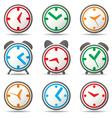clock symbols vector image