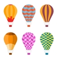 Colorful Air Balloon Set vector image