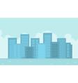 flat of city landscape vector image