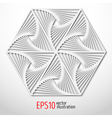 Hexagonal paper 3d design Sacral geometry Mystery vector image