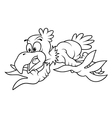 Flying Bald Eagle vector image vector image