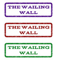 the wailing wall watermark stamp vector image