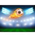 a football in a fiery flame vector image