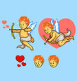 Flying Cupid Set vector image