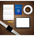 modern workplace background vector image