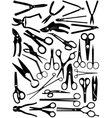 different scissors set vector image vector image