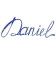 Daniel name lettering tinsels vector image