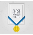 Frame for a photo with medal vector image vector image