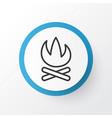 campfire icon symbol premium quality isolated vector image