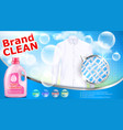 laundry detergent advertising poster vector image