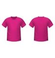 Realistic pink t-shirt vector image