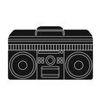 Boombox icon in black style isolated on white vector image