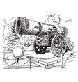 drawing tsar cannon moscow vector image
