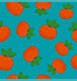 seamless pattern mandarin on azure background vector image