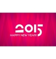 Abstract Minimalistic Flat Happy New Year 2015 vector image