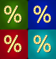 Volume icons symbol Percent sign Colorful modern vector image