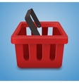 Shopping basket icon on blue background vector image