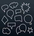 Abstract hand-drawn talking bubbles set vector image vector image