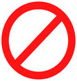 Ban sign red vector image