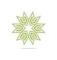 house star arrow compass design pointer icon vector image