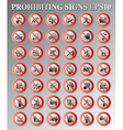 Prohibiting signs vector image vector image