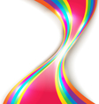 Abstract design with multicolored lines vector image