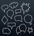 Abstract hand-drawn talking bubbles set vector image