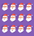 christmas santa claus emotion faces vector image