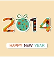 Happy New Year 2014 celebration background vector image