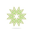 house star arrow compass design pointer icon vector image