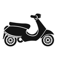 Vespa scooter icon simple style vector image
