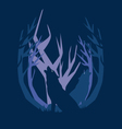 deep in the forest wolf vector image