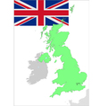 6131 UK map and flag vector image vector image