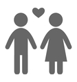 Love couple pictogram flat icon isolated on white vector image