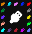 USB icon sign Lots of colorful symbols for your vector image vector image