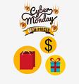 ciber monday deals design vector image