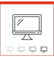 icon of monitor vector image