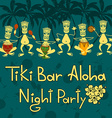 Invitation to Tiki bar night party vector image