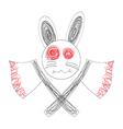 Bloody White Rabbit Axe vector image