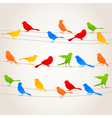 Bird on a wire5 vector image