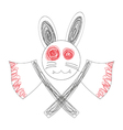 Bloody White Rabbit Axe vector image